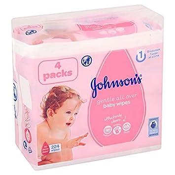 de Johnson suave para bebés toallitas desmaquillantes de 4 x 56 por paquete: Amazon.es: Salud y cuidado personal