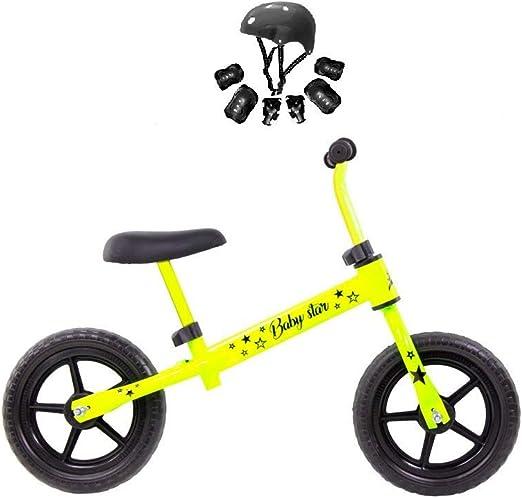 Grupo K-2 Riscko - Bicicleta sin Pedales con sillín Y Manillar Regulables   Ultraligera   Correpasillos Minibike   Bicicleta para Niños de 2 a 5 años Baby Star Amarillo Fluor: Amazon.es: Deportes y aire libre