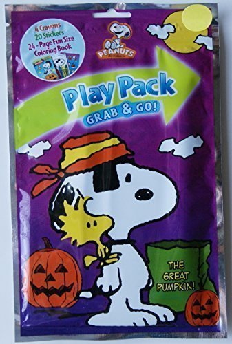 Halloween The Great Pumpkin Snoopy Grab and Go Play Pack