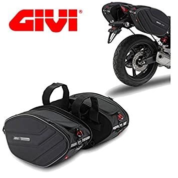 Par Maletas Laterales suaves GIVI EA101 Easy Bag 30 lt Moto Custom: Amazon.es: Coche y moto