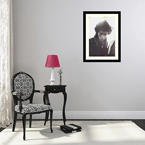 Framed Art Print 'Jimi Hendrix' by Alain Dister
