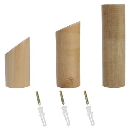 Meltse - Perchero de pared de madera para colgar sombreros ...