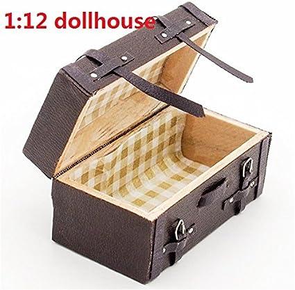 1//12th Dollhouse Miniature Accessories Black Metal Tool Box Case Model Toy