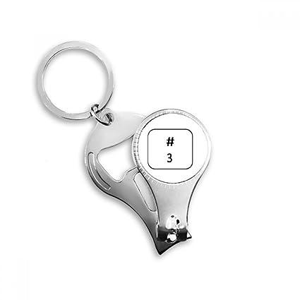 Amazon Keyboard Symbol 3 Key Chain Ring Toe Nail Clipper