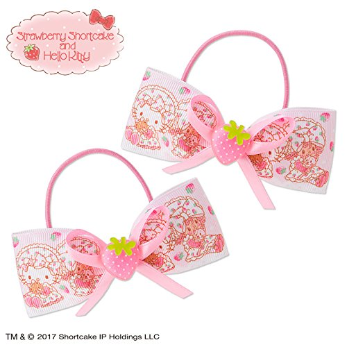 Sanrio Hello Kitty × Strawberry short cake ribbon ponytail holder set of two From Japan New (Strawberry Shortcake Outfits For Toddlers)
