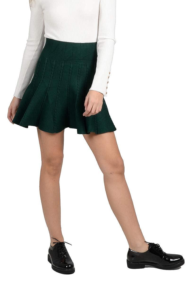 LILI X MOLLY - Falda - para Mujer Verde Oscuro L: Amazon.es: Ropa ...