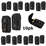 Contractor Lot Pack of 10 Rugged Vertical Nylon Extra Pocket Belt Loop Case for Somin XP7