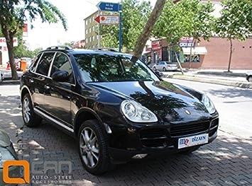 Barras de techo para Porsche Cayenne longitudinales 2004-2010 aluminio, patas de plástico, color negro: Amazon.es: Coche y moto