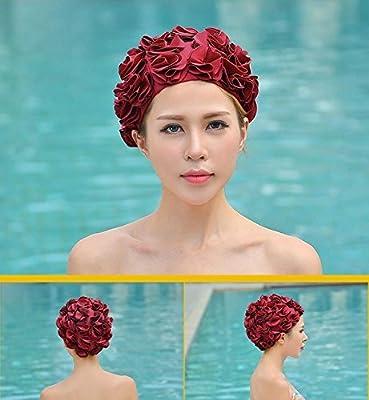 Huachnet Retro Petal Cap - Flower Swim Cap