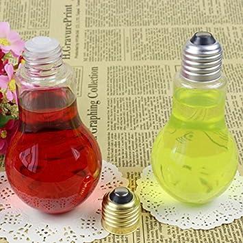 Bombilla de luz de Bren SL 200 ml botella de plástico para bebidas leche té fruta zumo botella de bebida botella de lámpara bombilla: Amazon.es: Hogar
