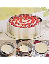 Access 1 Pc Retractable Stainless Steel Circle Mousse Ring Baking Tool Set Cake Mould Mold Size Adjustable Bakeware 16... saleoff