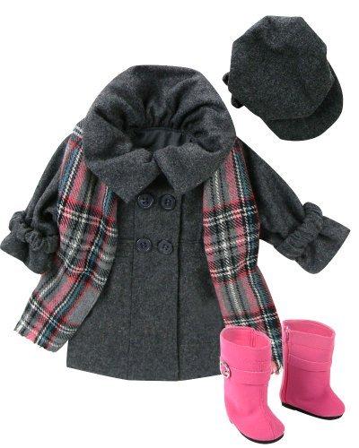 Sophia's 4 Piece 18-Inch Doll Dress Coat Set -