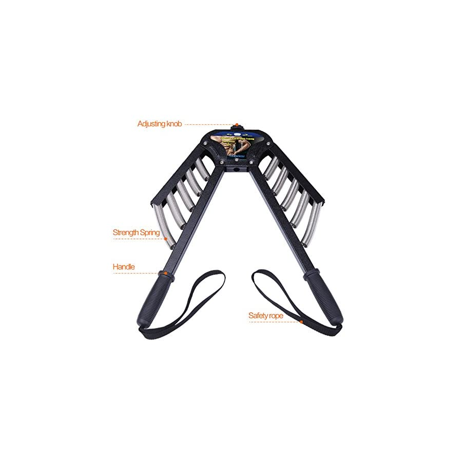 kansoon Adjustable Power Twister Super Heavy Duty for Upper Body Arm Strengthening Bicep Best Gym Home Heavy Club Swinging Option 66 133 Lbs (30 60 Kgs)