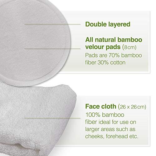basic washable cotton absorbent kit and organic bamboo microsponge