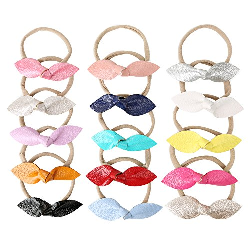 - DOTASI 15Pcs Baby Girls Toddler Bow Headband Elastic Hair Bows Newborn Headwear (Multi-color-11)