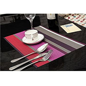 jay washable placemats heat insulation non slip table mats for kitchen dining set of 6 - Kitchen Table Mats