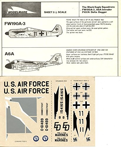 Used, Modelmark 1:72 Fw190 Fw-190 A-3 A-6 A6A Intruder F-102 for sale  Delivered anywhere in USA
