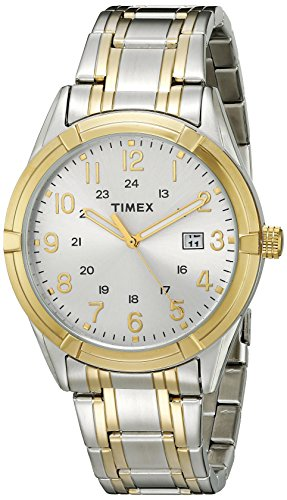 (Timex Men's Easton Avenue | Two-Tone w White Dial 24-Hr Time | Dress TW2P76500)