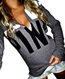 Victoria Secret Pink Clothing Best Deals - Generic Womens Chic Printed Long Sleeve Hooded Sweatshirt AS4 S