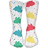 Color Rabbit Silhouette Classic Long Socks Women & Men Workout High Socks For Gym Hiking Running Home Stockings One Size