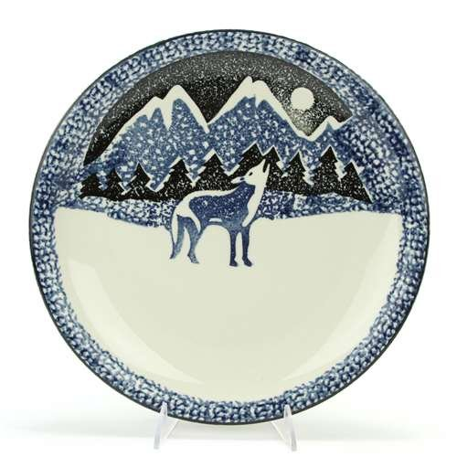 Wolf by Tienshan, Stoneware Chop Plate