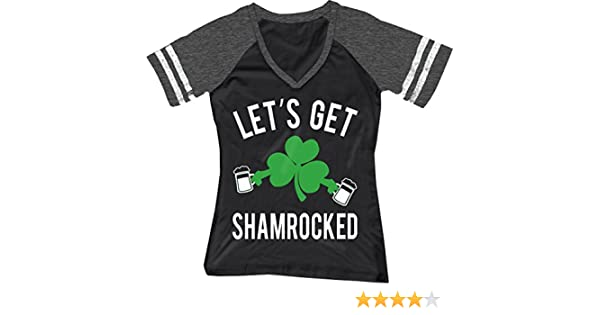 a950d210 Amazon.com: NoBull Woman Apparel Let's Get Shamrocked ST. Patrick's Day  Shirt Women's Black: Clothing