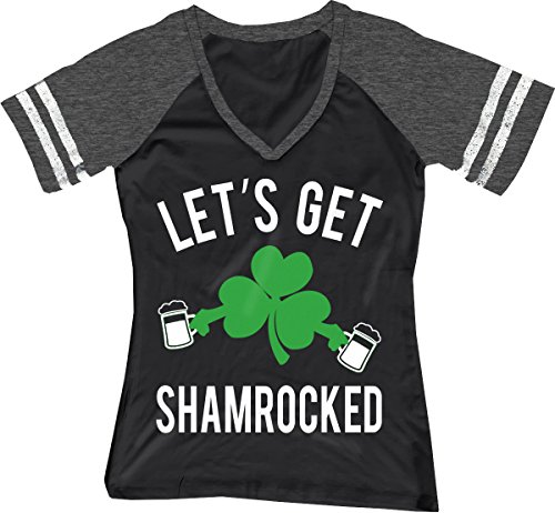 NoBull Woman Apparel Let's Get Shamrocked ST. Patrick's Day Shirt Women's Black (X-Large)