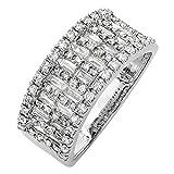 0.98 Carat (ctw) 14K Gold Round & Baguette Cut Diamond Ladies Anniversary Wedding Band 1 CT