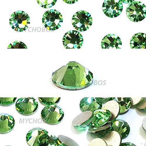 - PERIDOT (214) green Swarovski NEW 2088 XIRIUS Rose 20ss 5mm flatback No-Hotfix rhinestones ss20 144 pcs (1 gross) from Mychobos (Crystal-Wholesale)