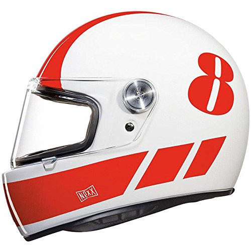debafd34 lovely Nexx XG100R Racer Helmet - Billy B White / Red - XL - test ...