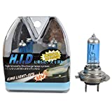 H7 Halogen Bulbs 55w, TaiTian Ultra Vison High Performance Halogen Headlight Bulbs Xenon gas charge, Crystal White Color, Contains 2 Bulbs