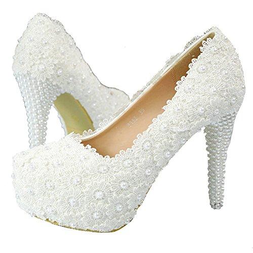 Bianco Zeppa Getmorebeautyupdate Donna 40 Con Sandali Eu white wqqIF