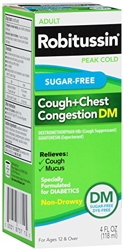 Robitussin Peak Cold Cough + Chest Congestion DM, Sugar-Free, 4 fl oz