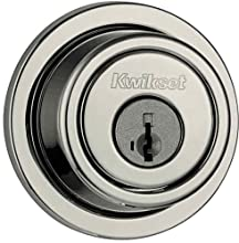 Kwikset 993 Round Contemporary Single Cylinder Deadbolt featuring SmartKey® in Satin Nickel