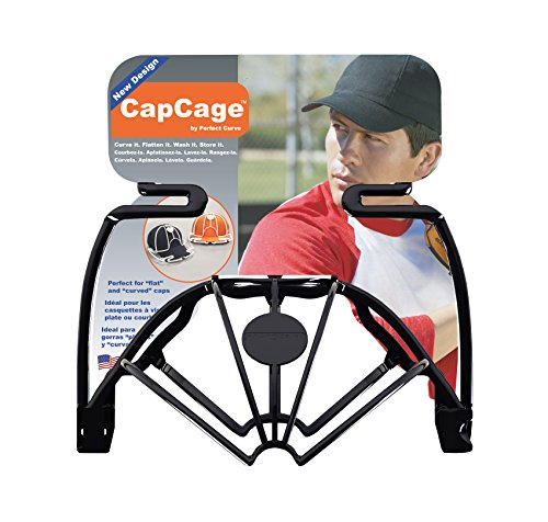 Perfect Curve Cap Washer (Black) - Hat Washer - Baseball Hat Cleaner - Baseball Cap Cleaning Hat Rack - New Patented Design Flat Curved caps Kids caps Visors - Made in USA.