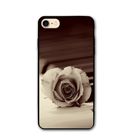 3D Rose Piano Wallpaper Elegant Suitable For IPhone 8 8S Phone Case