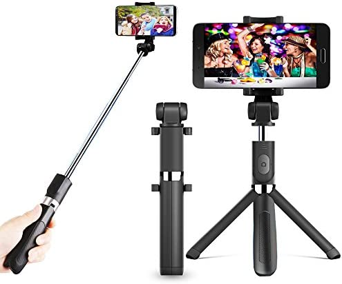Zeadio Extensible multifunción 3 en 1 Mini Bolsillo Selfie Stick ...