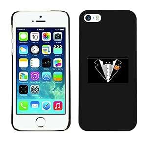 GIFT CHOICE / SmartPhone Carcasa Teléfono móvil Funda de protección Duro Caso Case para iPhone 5 / 5S /Minimalist Tuxedo/
