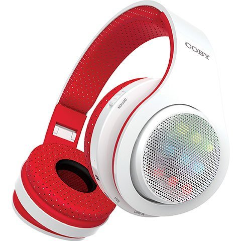 Coby Bluetooth Headphone (Coby Light-Up Wireless CHBT-725 Headphones (Red))
