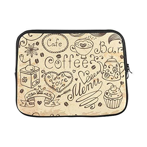Design Custom Hand Drawn Elements Design Menu Vintage Sleeve Soft Laptop Case Bag Pouch Skin for MacBook Air 11
