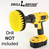Cordless Drill Driver - 5 Inch Diameter Drill Powered Scrub Brush With Quarter Inch Quick Change Shaft