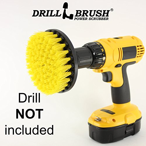 Price comparison product image 5 Inch Diameter Drill Powered Scrub Brush With Quarter Inch Quick Change Shaft
