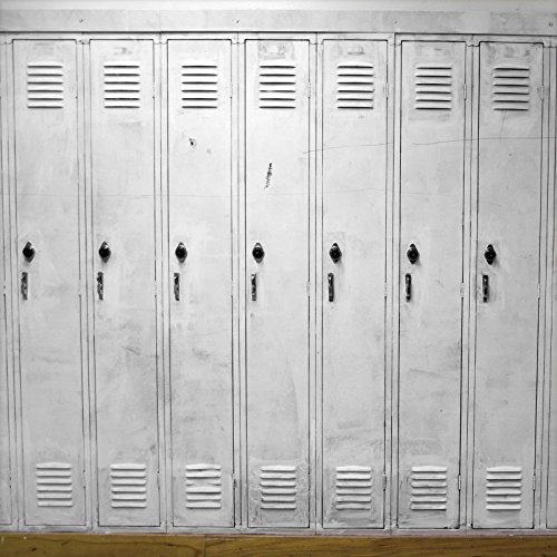 OFILA Locker Backdrop 8x8ft Row Square Gym Hall School Security Steel Storage Store Student Supermarket Locker Door Photos Studio Props by OFILA