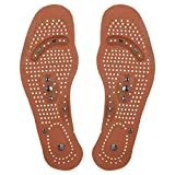 Hoshell 1 Pair Magnetic Massage Shoe Insoles Gel Pad Therapy Acupressure Foot Care Cushion (Men)