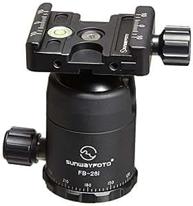 SunwayFoto FB-Series FB-28i Classic Ballhead with Screw-Knob Clamp, 26.45lbs Capacity