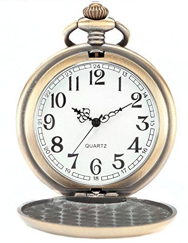 AMPM24 Bronze Men's Dragon & Phoenix Dangle Pendant Pocket Quartz Watch + Gift Chain WPK062