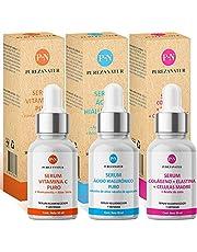 Kit Facial Serum Acido Hialurónico, Vitamina C y Células Madre anti edad