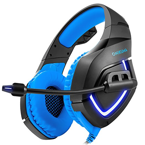 Buy Gaming Headset for PS4 - Stereo PC Gaming Headset with LED Light, USB Headset Bass Over-ear Gami...