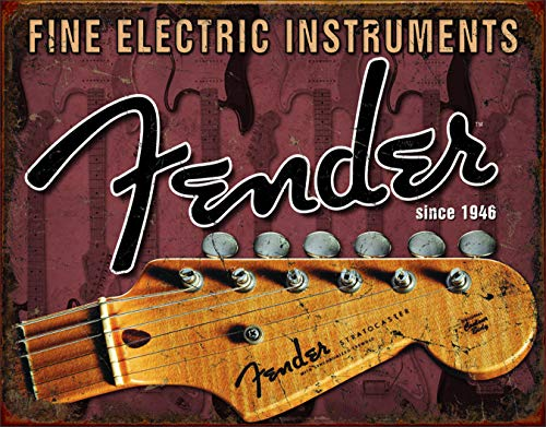 - Desperate Enterprises Fender Guitar Headstock Tin Sign Made from PU