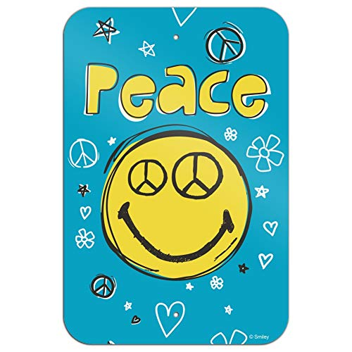 GRAPHICS & MORE Peace Eyes Smiley Face with